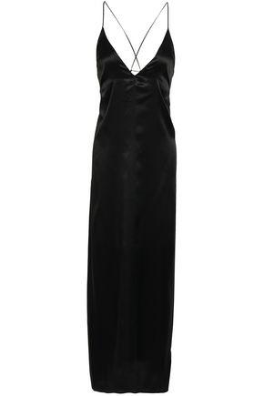 CALVIN KLEIN UNDERWEAR Silk-satin slip dress