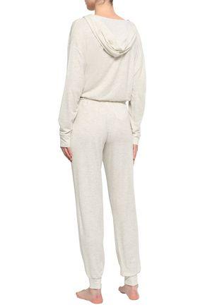 CALVIN KLEIN UNDERWEAR Mélange modal-blend jersey pajama pants
