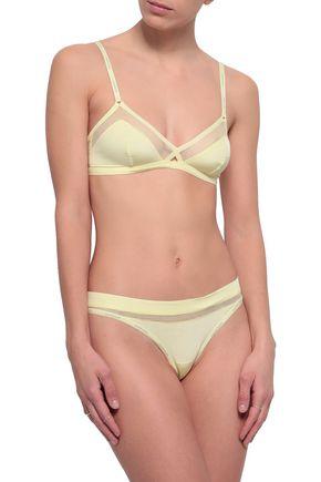 CALVIN KLEIN UNDERWEAR Mesh-trimmed stretch triangle bra