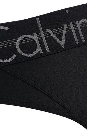 CALVIN KLEIN UNDERWEAR Printed stretch mid-rise thong
