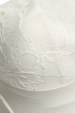 WOLFORD Lace and satin balconette bra