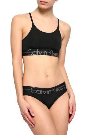 CALVIN KLEIN UNDERWEAR Stretch-mesh soft-cup bra