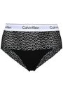 CALVIN KLEIN UNDERWEAR Embroidered stretch-knit and lace mid-rise briefs