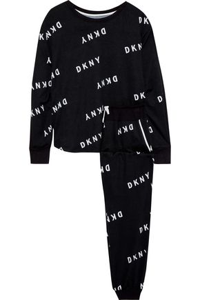 DKNY Self Titled printed French terry pajama set