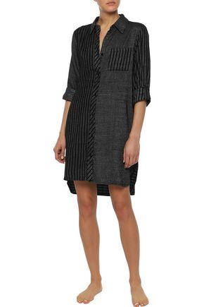 9b9d433592619a DKNY Checked flannel nightshirt