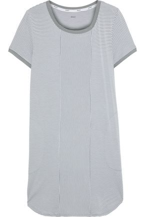 DKNY Striped stretch-jersey nightdress
