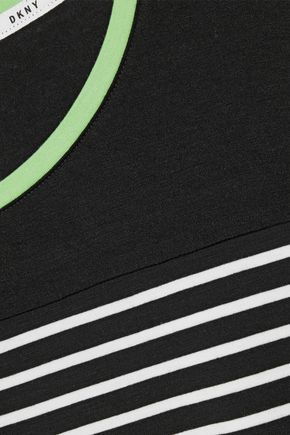 DKNY Printed stretch-jersey pajama set