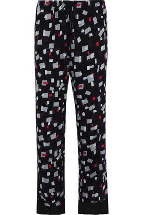 DKNY Printed stretch-jersey pajama pants