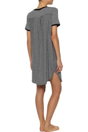 DKNY Striped stretch-jersey nightdress