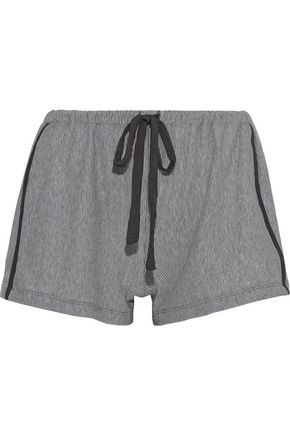 COSABELLA Hustle striped stretch-Micro Modal pajama shorts