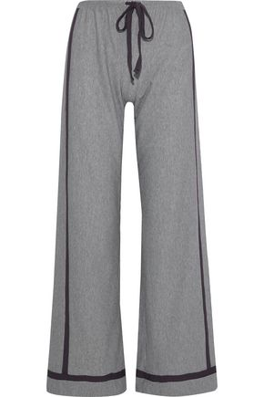 COSABELLA Striped stretch-modal pajama pants