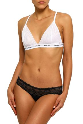 ANINE BING Tulle soft-cup triangle bra