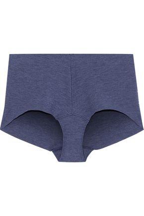 COMMANDO Mélange stretch-cotton jersey high-rise briefs