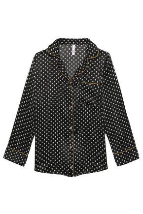 COMMANDO Printed silk-charmeuse pajama set