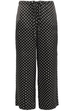 COMMANDO Printed silk-satin pajama pants
