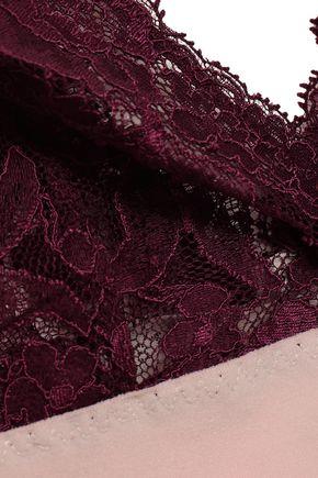 STELLA McCARTNEY Corded lace and stretch-jersey bralette