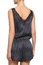 STELLA McCARTNEY Lace-trimmed printed silk-blend satin playsuit