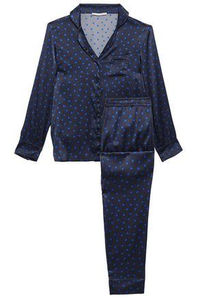 STELLA McCARTNEY Printed silk-blend satin pajama set