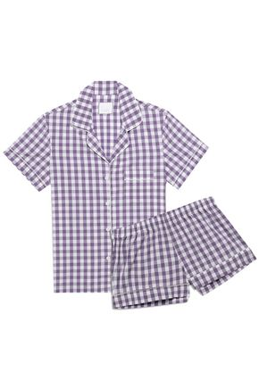 THREE J NYC Gingham cotton pajama set