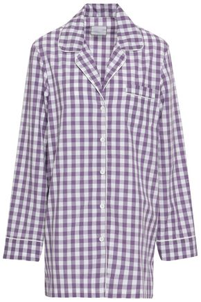 THREE J NYC Gingham cotton nightshirt