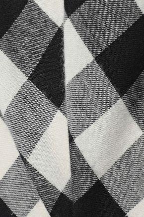 SKIN Gingham cotton-flannel night dress