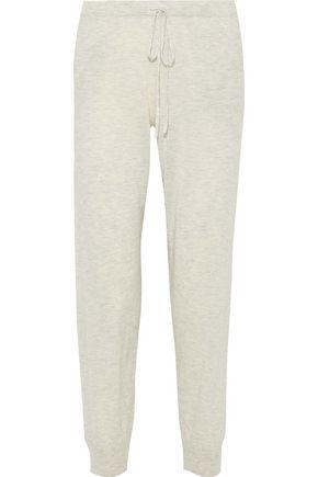 SKIN Myla brushed wool-blend track pants