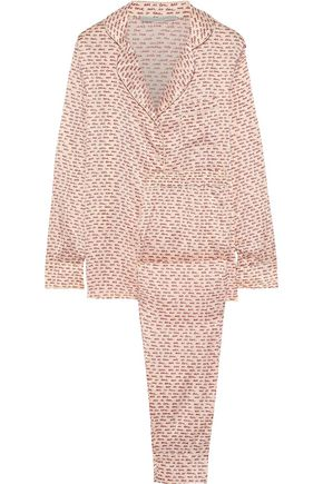 STELLA McCARTNEY Ellie Leaping printed stretch-silk satin pajama set