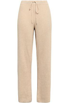 SKIN | Skin Ribbed Cotton-Blend Pajama Pants | Goxip