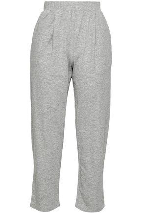 SKIN | Skin Cropped Mélange Pima Cotton-Jersey Pajama Pants | Goxip