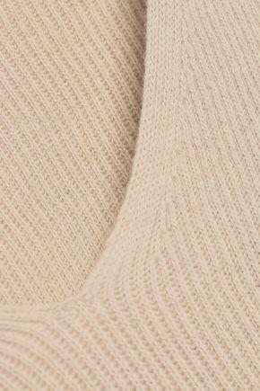SKIN Mélange ribbed cotton-blend pajama top