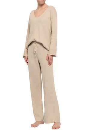 da27dae4ff01c3 SKIN Mélange ribbed cotton-blend pajama top