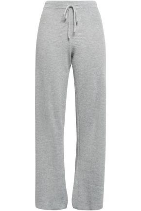 SKIN Ribbed cotton-blend pajama pants