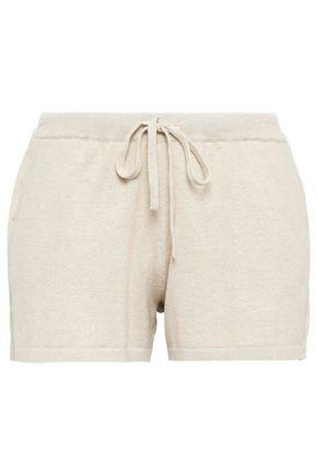 SKIN Ribbed cotton-blend pajama shorts