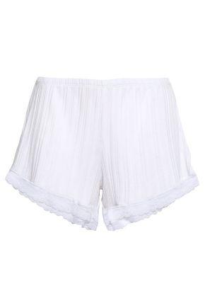 SKIN | Skin Berit Ribbed Pima Cotton Pajama Shorts | Goxip