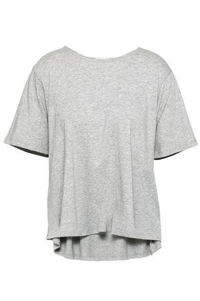 SKIN | Skin Mélange Pima Cotton-Jersey Pajama Top | Goxip
