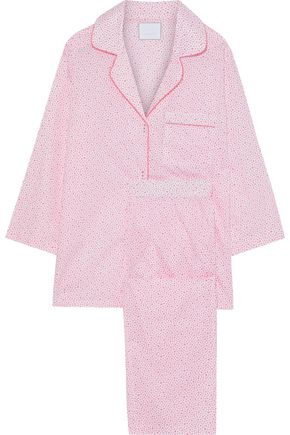 THREE J NYC Kate printed cotton-poplin pajama set