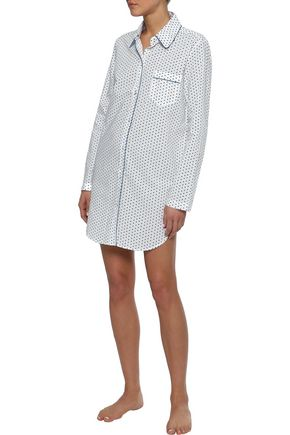 THREE J NYC Audrey printed cotton-poplin nightshirt