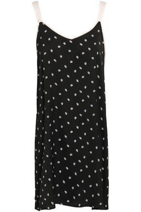 DKNY Printed crepe de chine nightdress