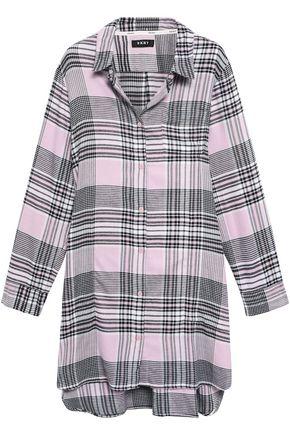 DKNY Hello Fall striped flannel nightshirt