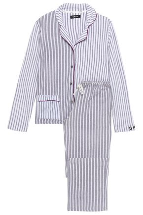 DKNY Striped fleece pajama set