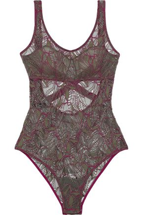 ELSE Bohemian open-back corded lace bodysuit