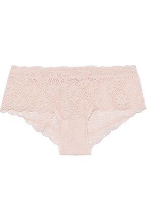 EBERJEY Zelia stretch-lace mid-rise briefs