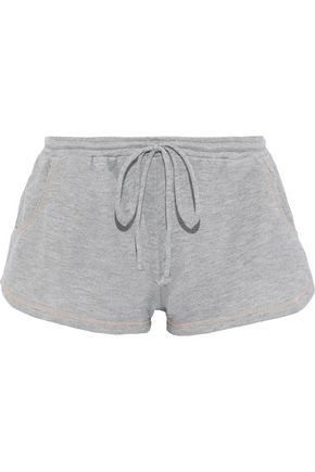 EBERJEY Gabriela The Runner French cotton-terry pajama shorts