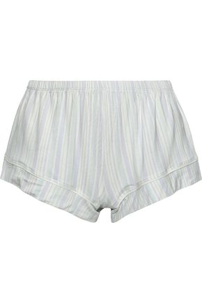 EBERJEY | Eberjey Painted Stripes Printed Stretch-Modal Pajama Shorts | Goxip