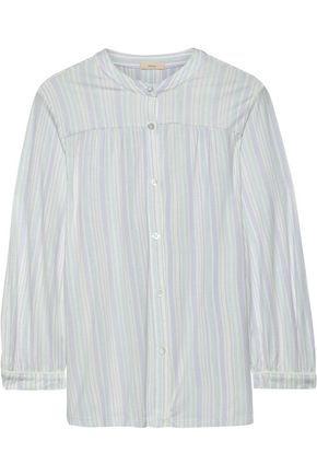 EBERJEY Painted Stripes printed stretch-modal pajama top