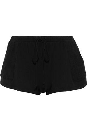 EBERJEY Purdy gauze-paneled stretch-modal pajama shorts