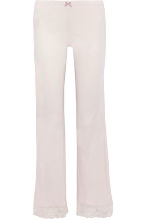 EBERJEY | Eberjey Enchanted Lace-Trimmed Jersey Pajama Pants | Goxip