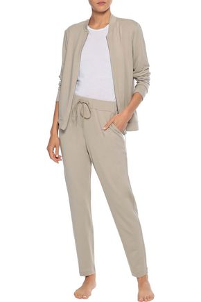 Hanro Pants HANRO WOMAN BALANCE FRENCH-TERRY TRACK PANTS NEUTRAL