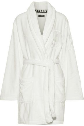 DKNY Embroidered fleece hooded robe