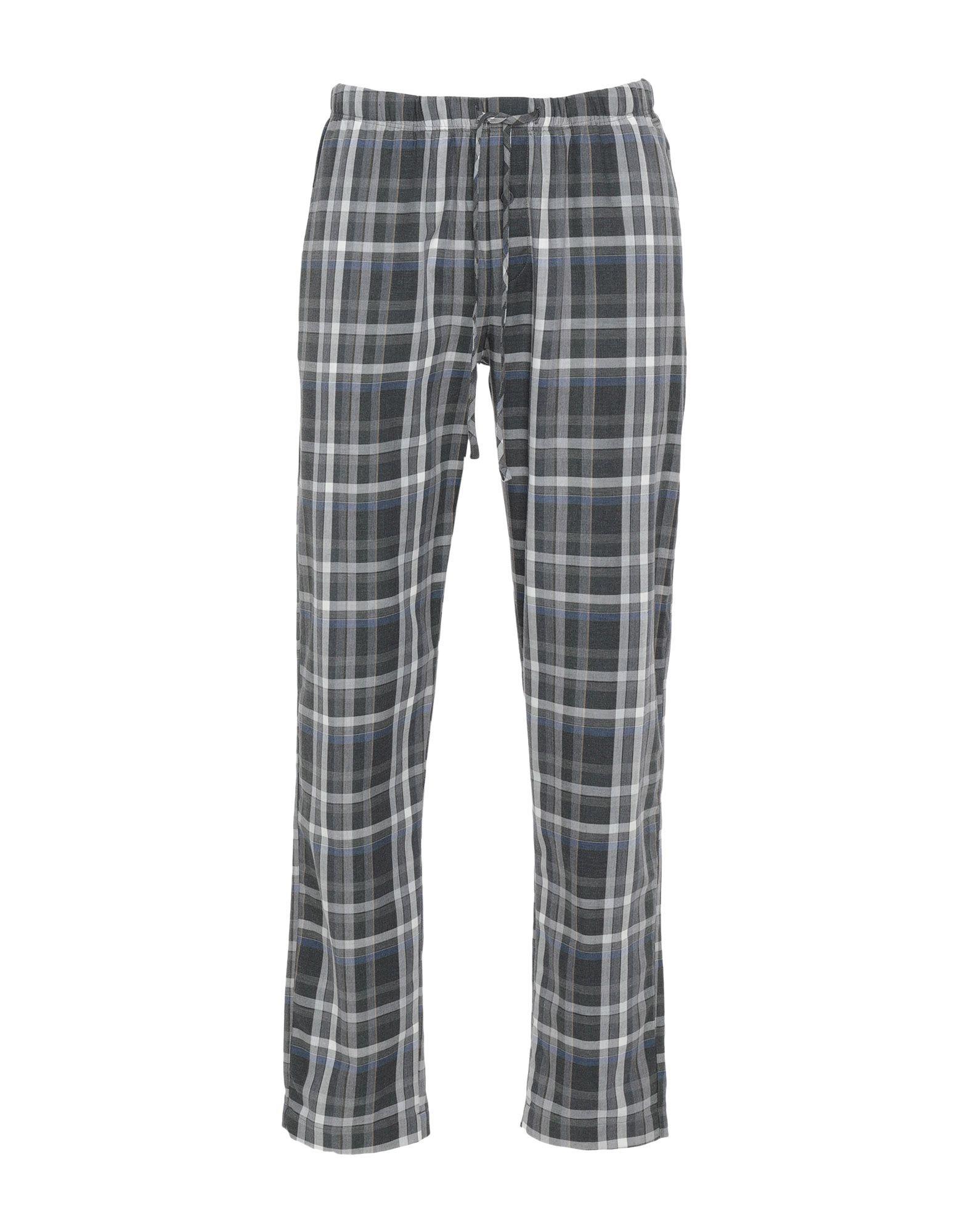 《期間限定セール中》HANRO メンズ パジャマ グレー M コットン 100%